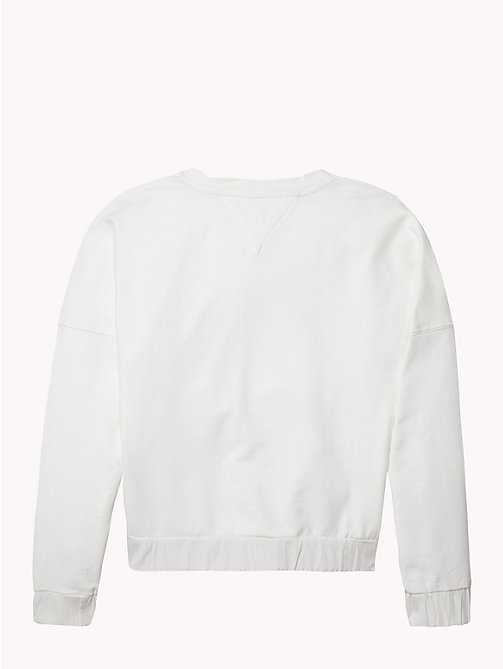 TOMMY HILFIGER Ruched Detail Logo Sweatshirt - BRIGHT WHITE - TOMMY HILFIGER Sweatshirts & Hoodies - detail image 1
