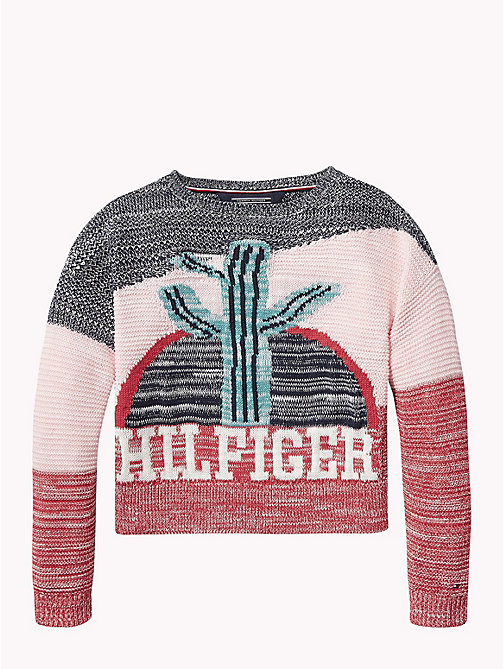 TOMMY HILFIGER Pullover mit Kaktus-Muster - ORCHID PINK / MULTI - TOMMY HILFIGER Pullover & Strickjacken - main image 1