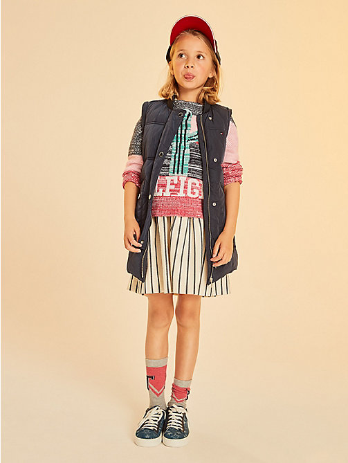 TOMMY HILFIGER Cactus Pattern Boat Neck Jumper - ORCHID PINK / MULTI - TOMMY HILFIGER Knitwear - main image