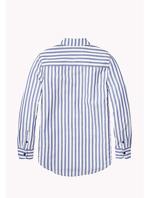 TOMMY HILFIGER All Over Stripe Shirt - MAZARINE BLUE - TOMMY HILFIGER Tops & T-shirts - detail image 1