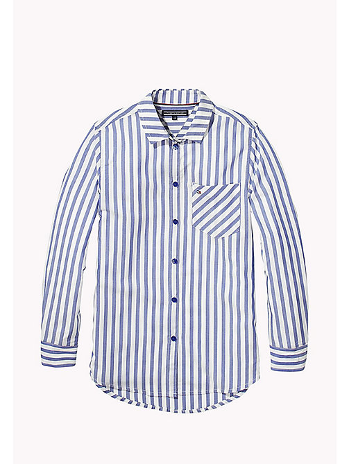 TOMMY HILFIGER All Over Stripe Shirt - MAZARINE BLUE - TOMMY HILFIGER Girls - main image