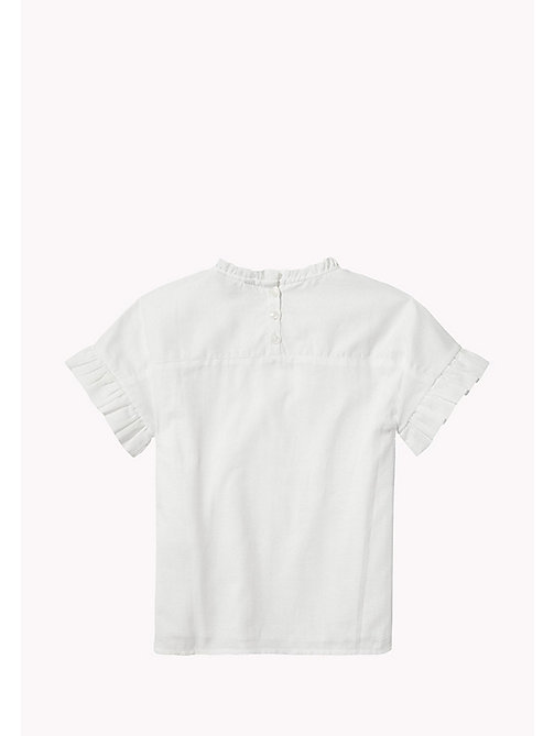 TOMMY HILFIGER Ruffle Top - BRIGHT WHITE - TOMMY HILFIGER Tops & T-shirts - detail image 1