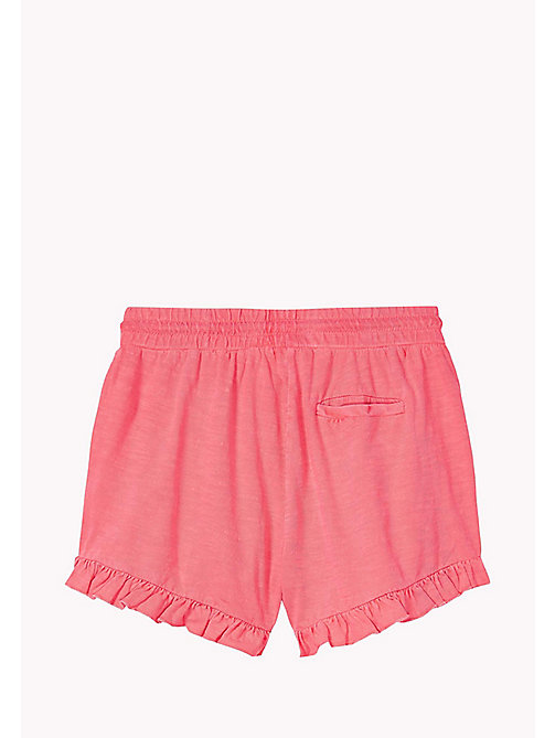 TOMMY HILFIGER Neon Cotton Shorts - NEON PINK - TOMMY HILFIGER Girls - detail image 1