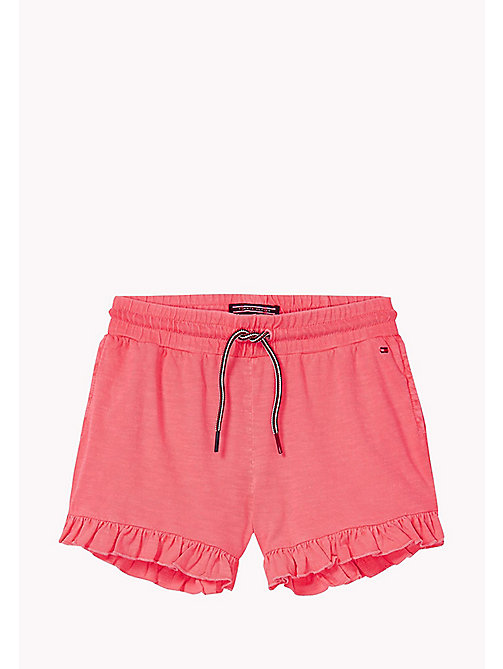 TOMMY HILFIGER Neon Cotton Shorts - NEON PINK - TOMMY HILFIGER Girls - main image