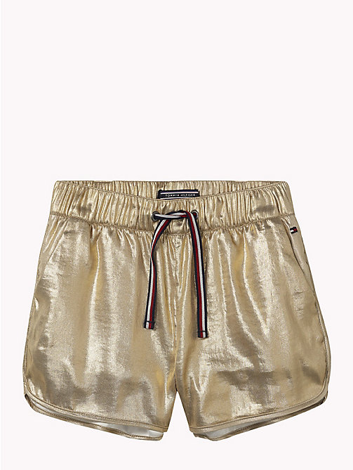 TOMMY HILFIGER Gold Sports Shorts - SOFT GOLD - TOMMY HILFIGER Girls - detail image 1