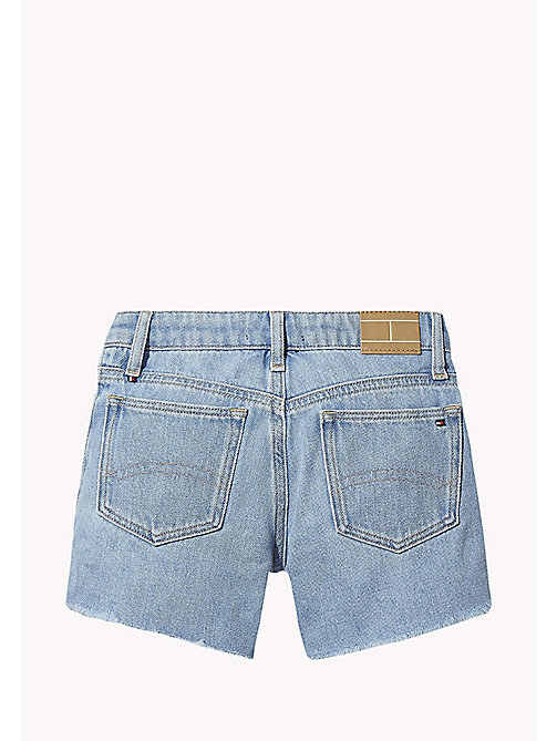 TOMMY HILFIGER Shorts cut out in denim - SALT PEPPER RIGID - TOMMY HILFIGER Bambine - dettaglio immagine 1