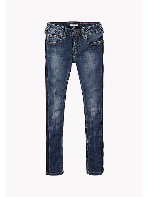 TOMMY HILFIGER Contrast Stripe Jeans - COLORADO BLUE SOFT STRETCH - TOMMY HILFIGER Girls - main image