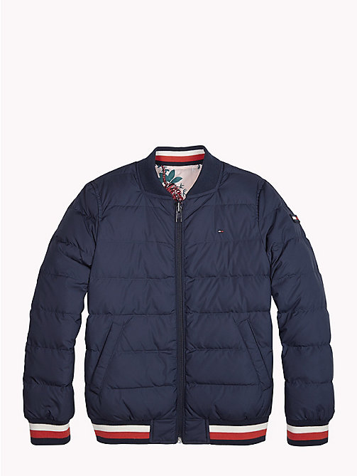TOMMY HILFIGER Reversible Quilted Down Jacket - BLACK IRIS - TOMMY HILFIGER Girls - main image