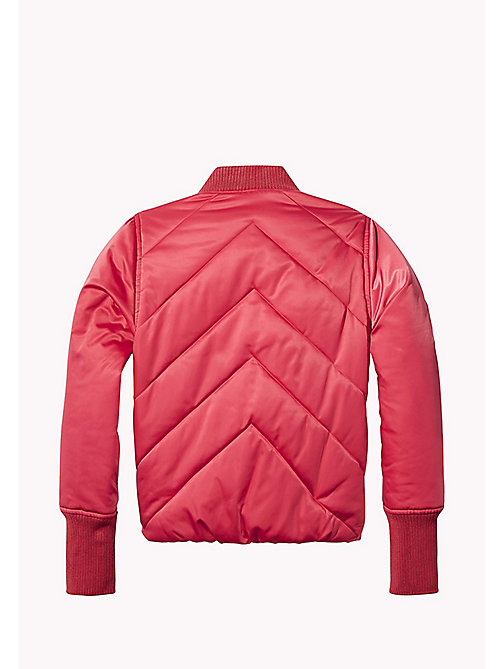 TOMMY HILFIGER Quilted Padded Satin Jacket - RASPBERRY WINE - TOMMY HILFIGER Coats & Jackets - detail image 1