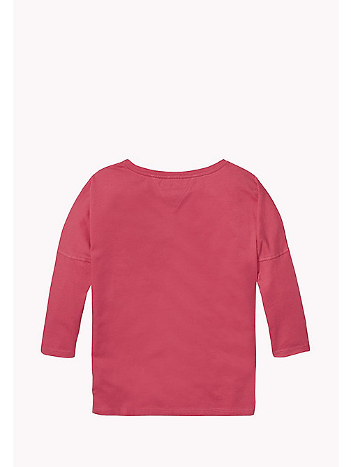 TOMMY HILFIGER Rainbow And Stars Logo Top - RASPBERRY WINE - TOMMY HILFIGER Girls - detail image 1