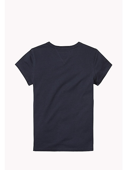 TOMMY HILFIGER Organic Cotton Signature Logo T-Shirt - BLACK IRIS - TOMMY HILFIGER Girls - detail image 1