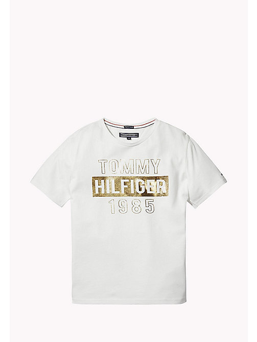 TOMMY HILFIGER Organic Cotton Logo T-Shirt - BRIGHT WHITE - TOMMY HILFIGER Girls - main image