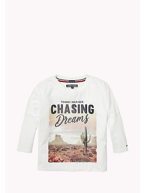 TOMMY HILFIGER Oversized Fit Desert Photo Print Top - BRIGHT WHITE - TOMMY HILFIGER Girls - main image
