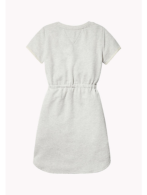 TOMMY HILFIGER Rainbow Logo Sweatshirt Dress - LIGHT GREY HTR - TOMMY HILFIGER Girls - detail image 1