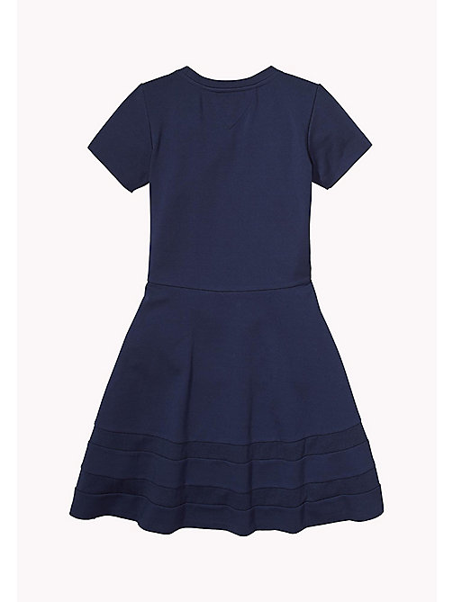 TOMMY HILFIGER Contrast Stripe Heart Patch Dress - BLACK IRIS - TOMMY HILFIGER Girls - detail image 1