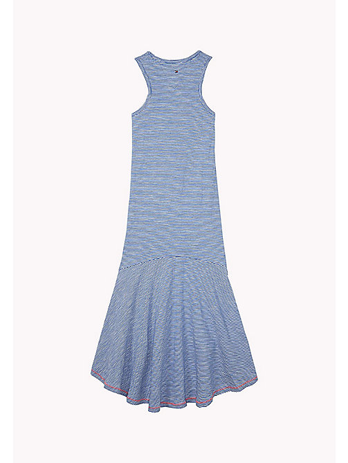 TOMMY HILFIGER Long Stripe Cactus Dress - STRONG BLUE / BRIGHT WHITE - TOMMY HILFIGER Kids - detail image 1