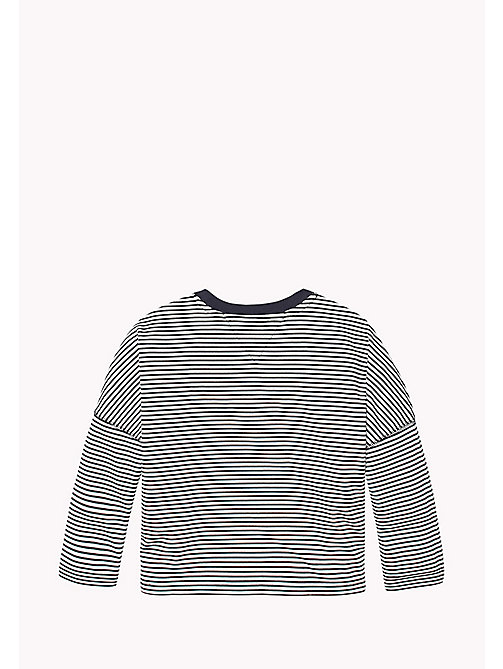 TOMMY HILFIGER Stripe Patch Pocket Jumper - BRIGHT WHITE / BLACK IRIS - TOMMY HILFIGER Tops & T-shirts - detail image 1