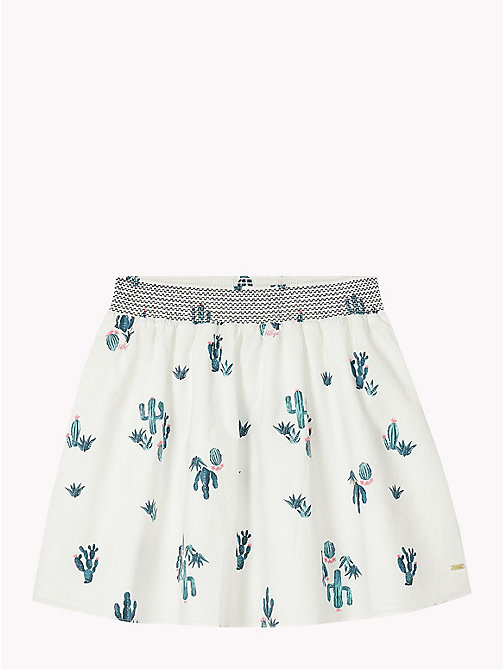 TOMMY HILFIGER Cactus Print Skirt - BRIGHT WHITE / MULTI - TOMMY HILFIGER Girls - detail image 1