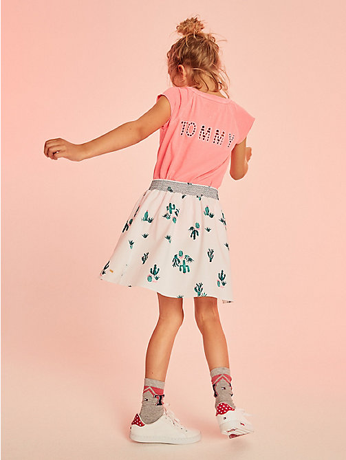 TOMMY HILFIGER Cactus Print Skirt - BRIGHT WHITE / MULTI - TOMMY HILFIGER Girls - main image