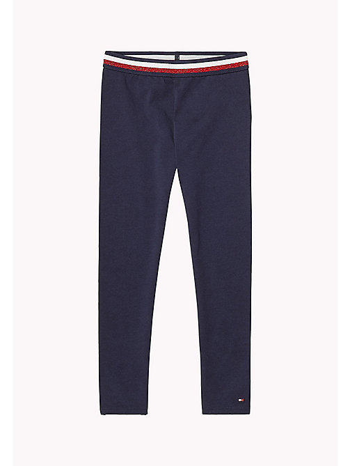 TOMMY HILFIGER Leggings in cotone stretch - BLACK IRIS - TOMMY HILFIGER Pantaloni & Gonne - immagine principale
