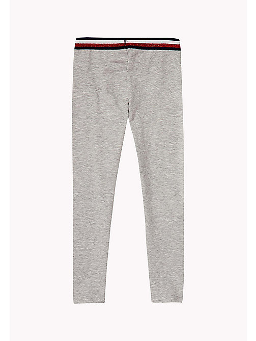 TOMMY HILFIGER Stretch Leggings - LIGHT GREY HTR - TOMMY HILFIGER Trousers & Skirts - detail image 1