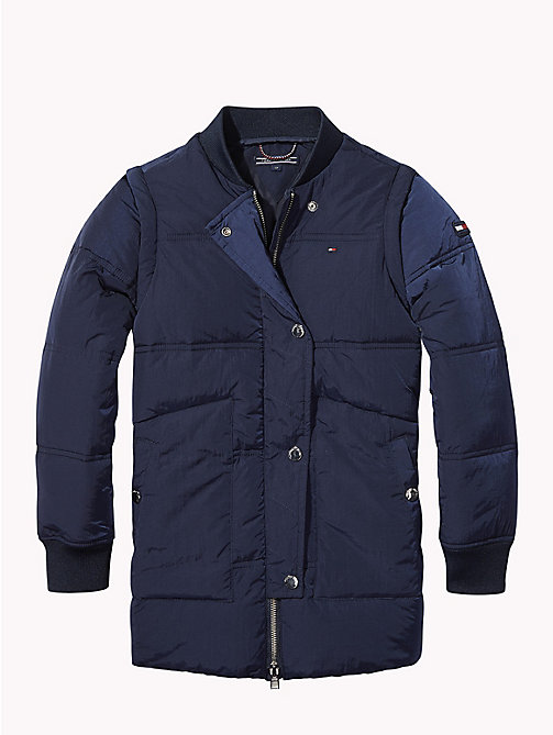 TOMMY HILFIGER Detachable Sleeve Padded Jacket - BLACK IRIS - TOMMY HILFIGER Coats & Jackets - detail image 1