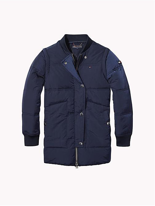 TOMMY HILFIGER Detachable Sleeve Padded Jacket - BLACK IRIS - TOMMY HILFIGER Coats & Jackets - main image