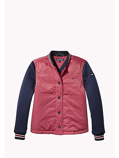 TOMMY HILFIGER Bomber Jacket - RASPBERRY WINE - TOMMY HILFIGER Girls - main image