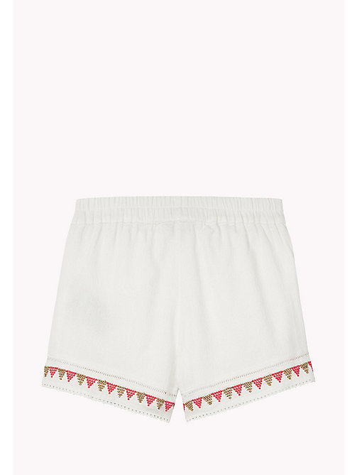TOMMY HILFIGER Bead and Embroidered Sun Shorts - BRIGHT WHITE - TOMMY HILFIGER Girls - detail image 1