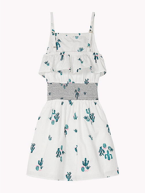TOMMY HILFIGER Cactus Print Smock Dress - BRIGHT WHITE MULTI - TOMMY HILFIGER Girls - detail image 1