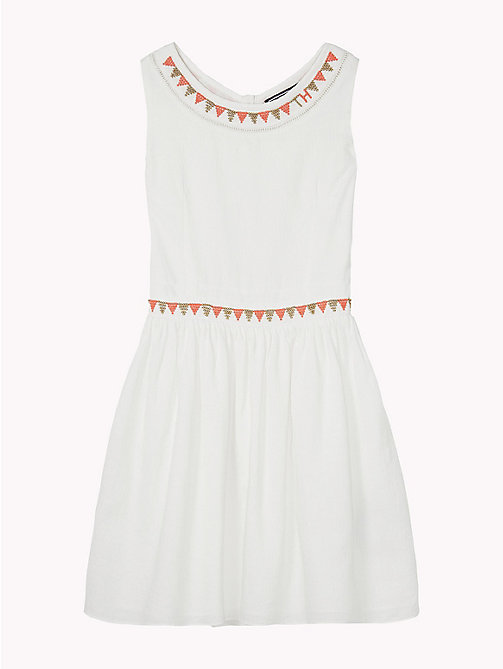 TOMMY HILFIGER Bead and Embroidered Sun Dress - BRIGHT WHITE - TOMMY HILFIGER Kids - detail image 1
