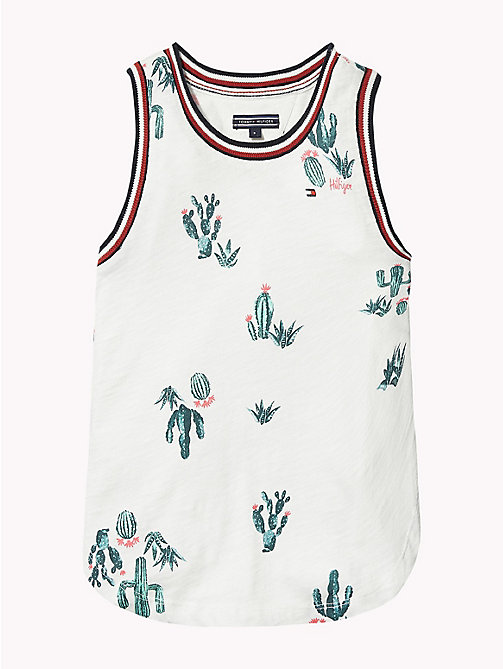 TOMMY HILFIGER Top met cactusprint - BRIGHT WHITE / MULTI - TOMMY HILFIGER Meisjes - detail image 1