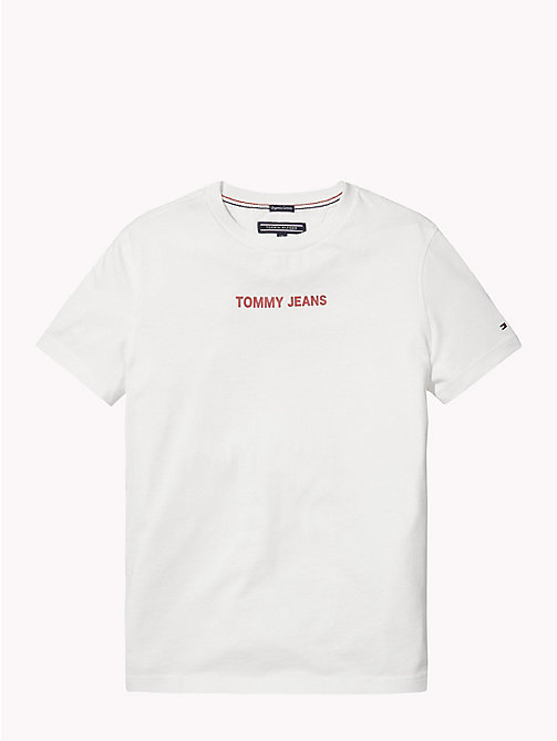 TOMMY HILFIGER Logo Boyfriend T-Shirt - BRIGHT WHITE - TOMMY HILFIGER Girls - detail image 1