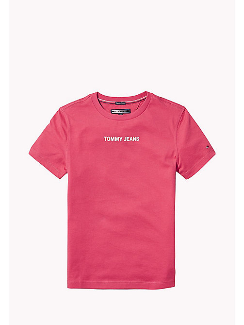 TOMMY HILFIGER Logo Boyfriend T-Shirt - RASPBERRY WINE - TOMMY HILFIGER Girls - main image