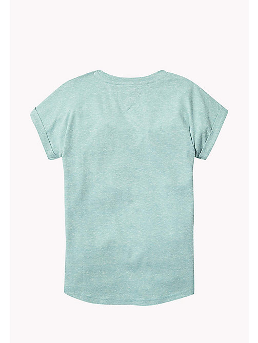 TOMMY HILFIGER Turn Back Cuff T-Shirt - GREEN-BLUE SLATE - TOMMY HILFIGER Tops & T-shirts - detail image 1