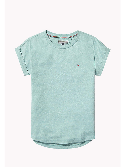 TOMMY HILFIGER Turn Back Cuff T-Shirt - GREEN-BLUE SLATE - TOMMY HILFIGER Tops & T-shirts - main image