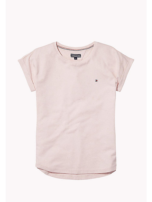 TOMMY HILFIGER T-shirt à manches revers - ORCHID PINK - TOMMY HILFIGER Tops & T-shirts - image principale
