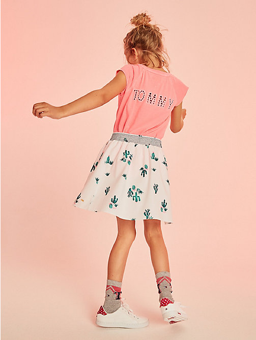 TOMMY HILFIGER Pure Cotton Sleeveless Neon Top - NEON PINK - TOMMY HILFIGER Kids - main image
