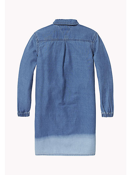 TOMMY HILFIGER Dip Bleach Dress - LIGHT BLUE BLEACH DIP - TOMMY HILFIGER Dresses - detail image 1