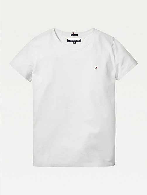 TOMMY HILFIGER Organic Cotton T-Shirt - BRIGHT WHITE - TOMMY HILFIGER Tops & T-shirts - main image