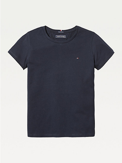 TOMMY HILFIGER Organic Cotton T-Shirt - SKY CAPTAIN - TOMMY HILFIGER Tops & T-shirts - main image