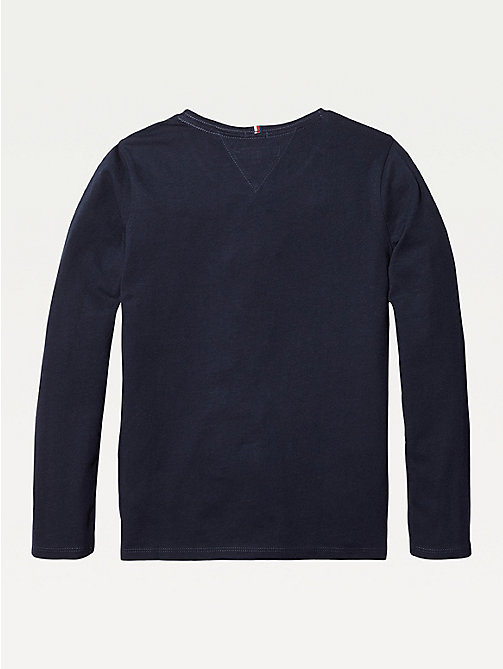 TOMMY HILFIGER Organic Cotton Long Sleeve Top - SKY CAPTAIN - TOMMY HILFIGER Tops & T-shirts - detail image 1