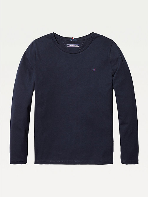 TOMMY HILFIGER Organic Cotton Long Sleeve Top - SKY CAPTAIN - TOMMY HILFIGER Tops & T-shirts - main image