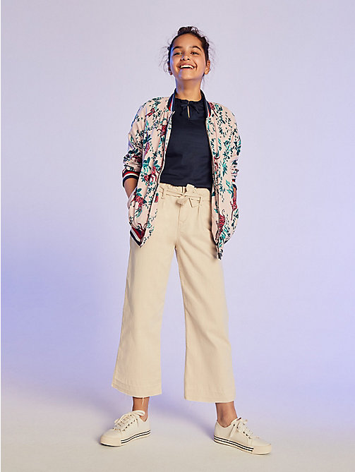 TOMMY HILFIGER Cropped Martha Trousers - GOLDY STRETCH - TOMMY HILFIGER Girls - main image