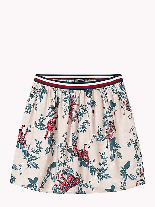 TOMMY HILFIGER Tiger-Print Skirt - LOTUS/MULTI - TOMMY HILFIGER Girls - main image