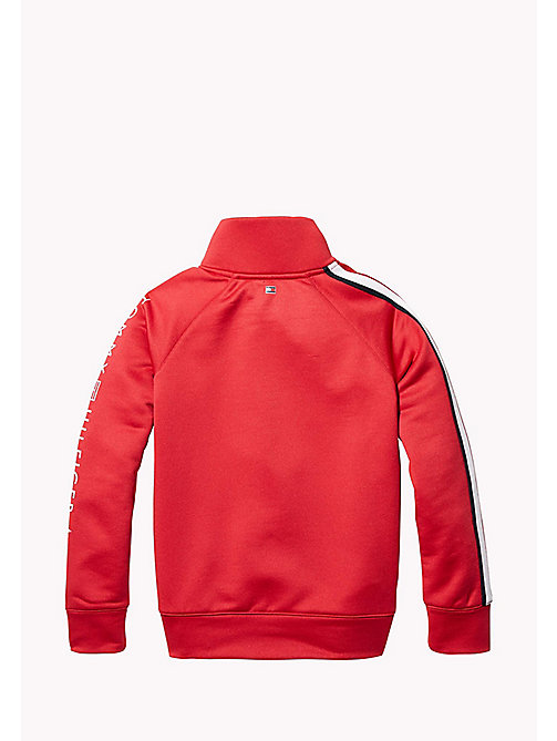 TOMMY HILFIGER KIDS SPORTS BENNI MOCK-NK TOP - HAUTE RED - TOMMY HILFIGER Sweatshirts & Hoodies - detail image 1
