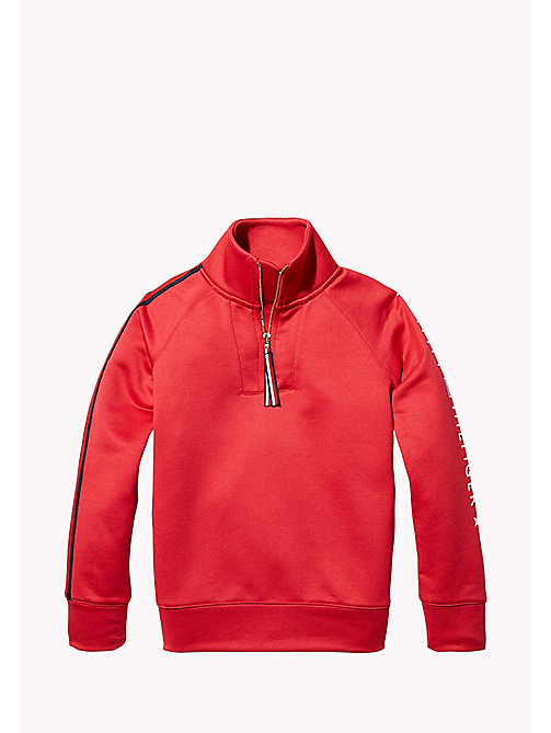 TOMMY HILFIGER KIDS SPORTS BENNI MOCK-NK TOP - HAUTE RED - TOMMY HILFIGER Sweatshirts & Hoodies - main image