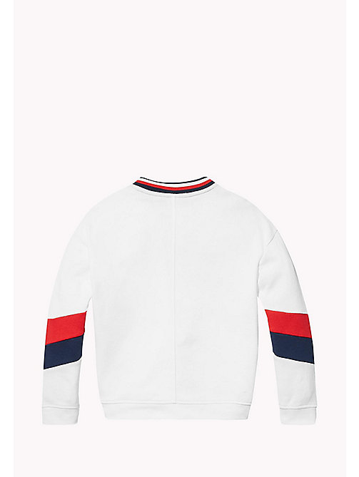 TOMMY HILFIGER KIDS SPORTS BEKKI CLR BLOCK SWEATSHIRT - CLASSIC WHITE - TOMMY HILFIGER Sports Capsule - detail image 1