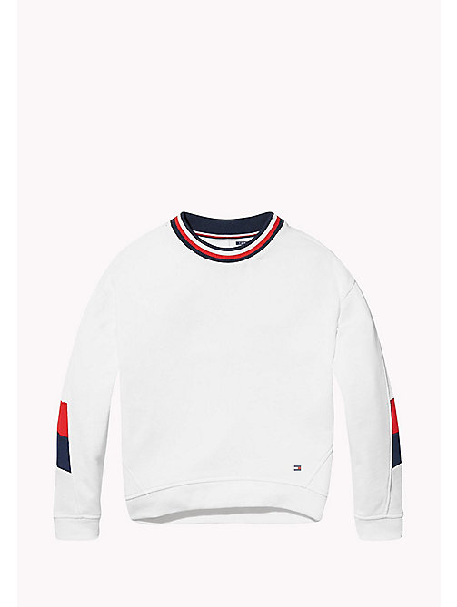 TOMMY HILFIGER KIDS SPORTS BEKKI CLR BLOCK SWEATSHIRT - CLASSIC WHITE - TOMMY HILFIGER Girls - main image