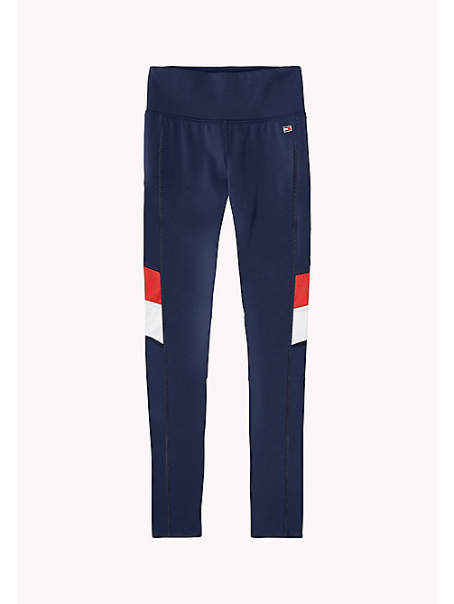 TOMMY HILFIGER KIDS SPORTS BEKKI CLR BLOCK LEGGING - SKY CAPTAIN - TOMMY HILFIGER Sports Capsule - main image